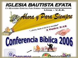 Flyer for the Bible Conference